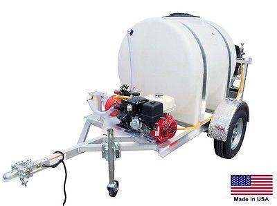 SPRAYER Commercial - 2 Wheel Trailer - 335 Gallon Tank - 21 GPM - 735 PSI  Reel