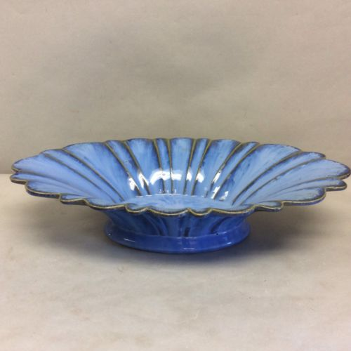 Fulper Pottery Oval Fluted Centerpiece Bowl 16