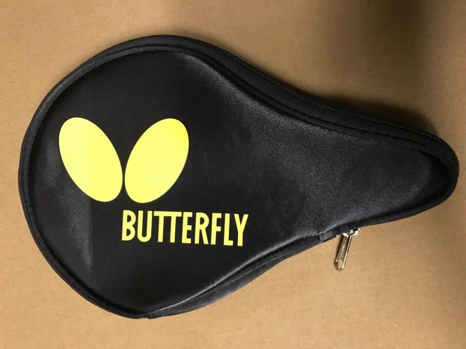 Butterfly Logo Yellow B Case Table Tennis Ping Pong Racket Paddle Case
