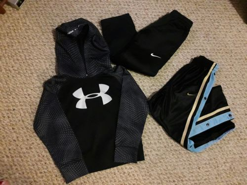 Nike Under Armour Youth Boys Lot Hoodie Pants Size 6