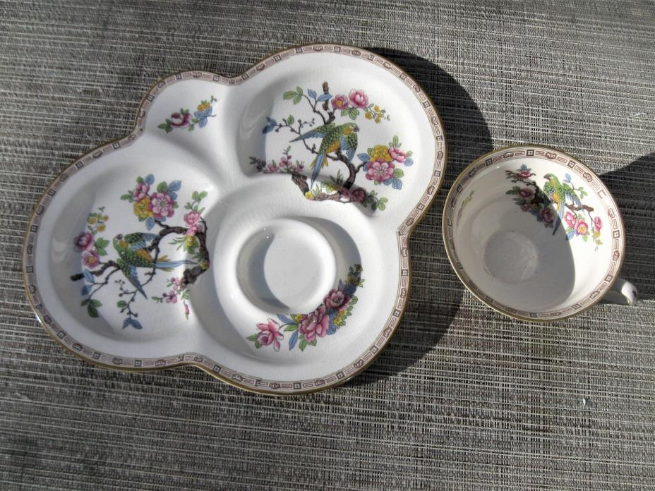 Crown Ducal Ware England Snack Plate & Cup Set