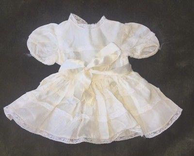 Terri Lee Tagged Doll White Rayon Dress 1950's Clean!