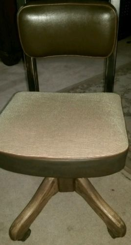 Vintage Fritz Cross Posture chair, 1940-50 rolling office