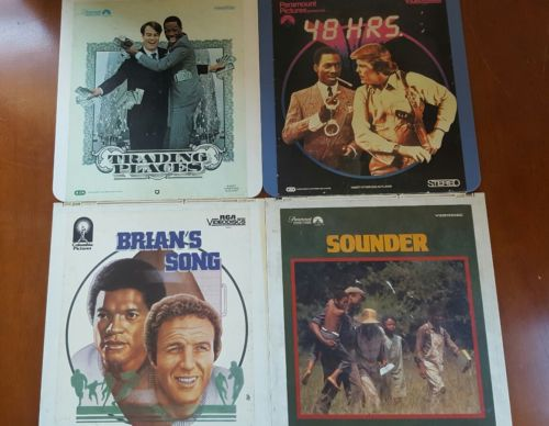TRADING PLACES, 48 HRS, BRAIN'S SONG, SOUNDER  Laserdisc Lot of 4 Videodisc