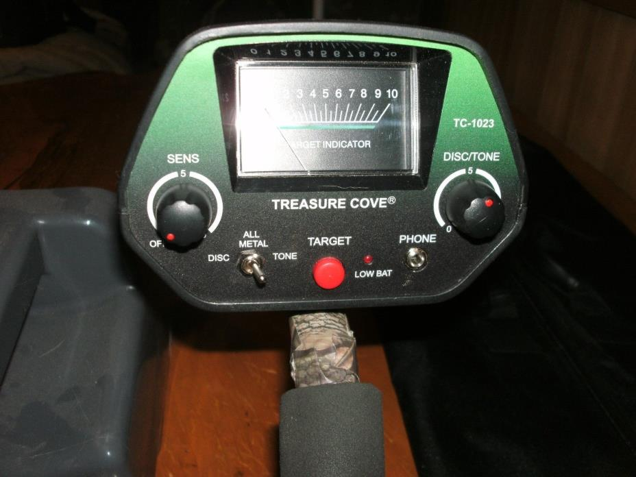 treasure cove tc-1023 fortune finder metal detector set, sand scoop, carry bag