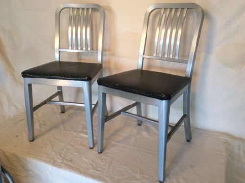 Vintage Industrial Shaw Walker Office side Dining Chair Rare Matching Pair