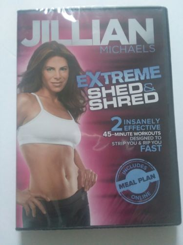 Jillian Michaels Extreme Shed & Shred Fitness Workout DVD 2 Workouts 45 min.
