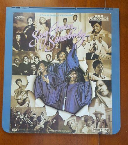 SAY AMEN, SOMEBODY Laserdisc RCA Videodisc 12233 Gospel Music