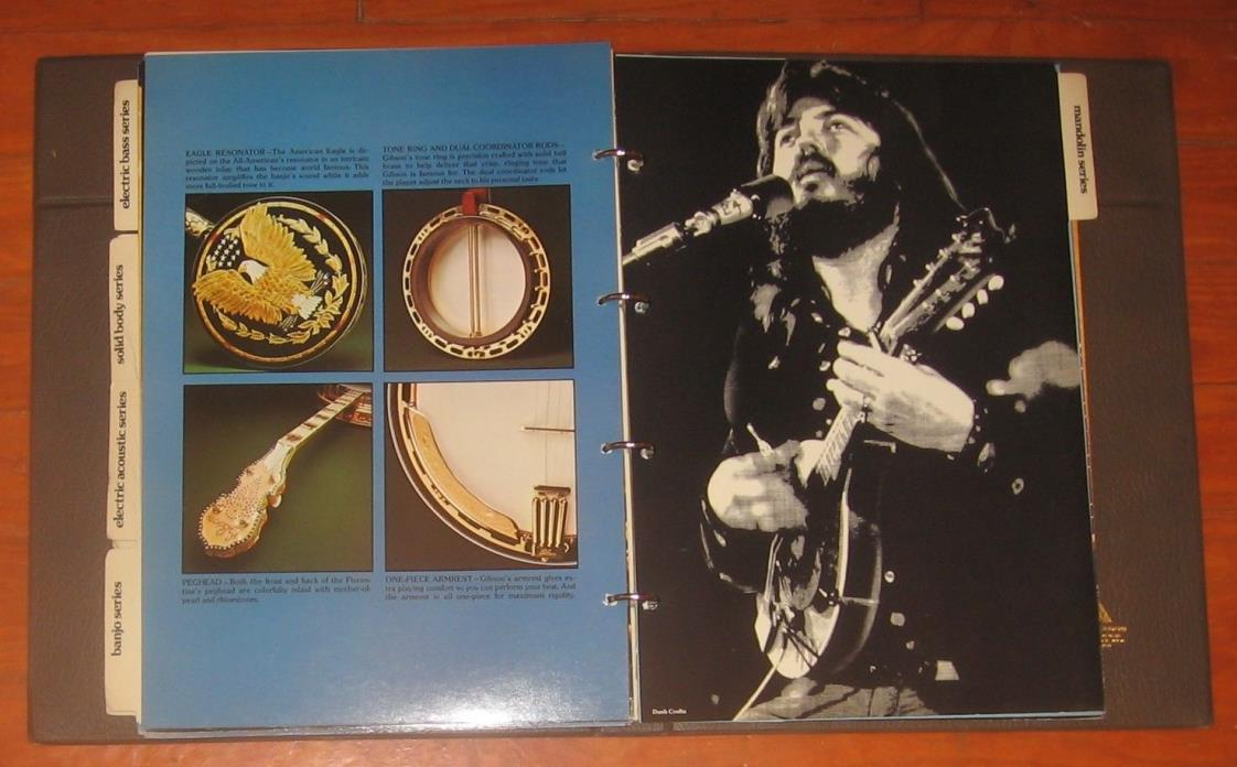 1975-1976 Gibson Guitar, Guitar & Mandolin Catalog. Jumbo Size. 16
