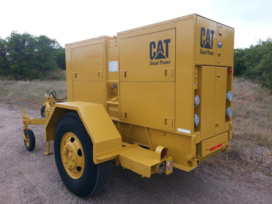 CAT Diesel Generator, 100KW, 125KVA Low RPM, 1 and 3-Phase, Trailer Mounted