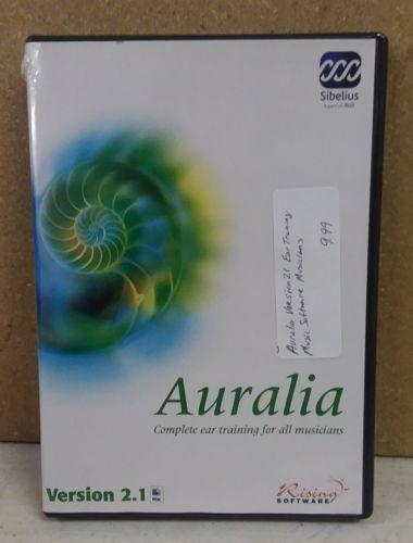 Auralia Version 2.1 Ear training Music Software Musicians