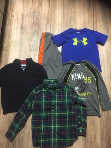 Boys size 6/7 Name Brand Clothing polo ,tommy Hilfiger,Under Armour Lot