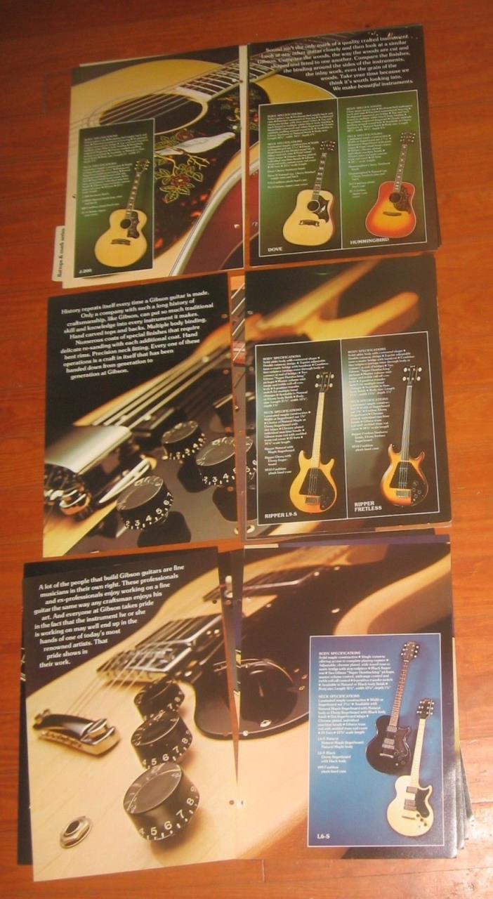 1976 Gibson Guitar, Guitar & Mandolin PARTIAL Catalog. Jumbo. 11