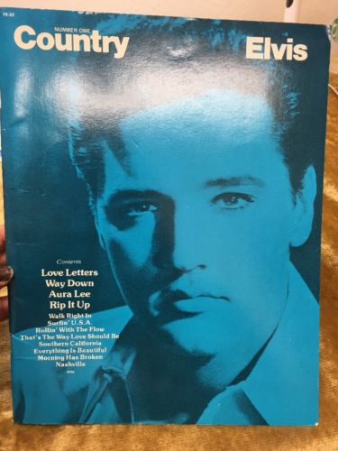 ELVIS PRESLEY Sheet Music Songbook 1972 Elvis Number One Country W/ Poster