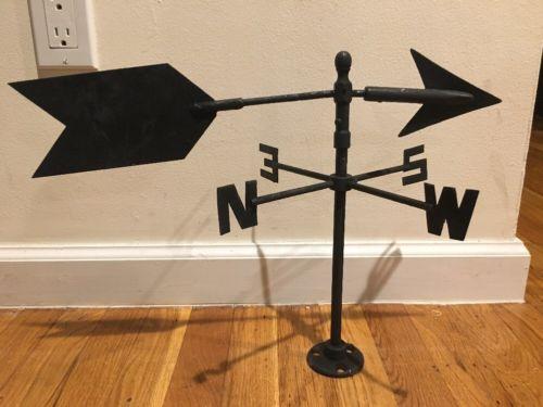 Weathervane Statue Display Mount Arrow Directional Home Decor Figure Vintage