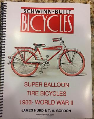 ALL COLOR BOOK prewar 1933 to 1941 SCHWINN BICYCLES antique catalog brochure