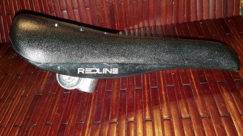 NOS REDLINE  black seat old /mid school BMX freestyle Rl20II vintage