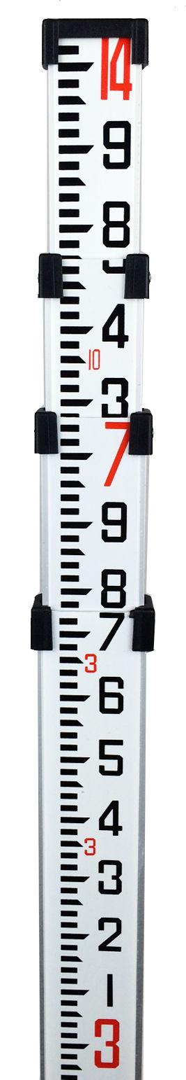 14' Northwest Aluminum Survey Level Rod Stick 10THS  NAR14T