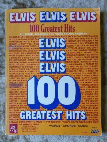 Elvis Elvis Elvis 100 Greatest Hits Sheet Music Piano Voice Guitar B3-1587 BIG3