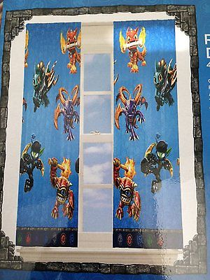 Kids Skylanders Room Darkening Blackout Drape Panel Curtain 42x 63 Game #44