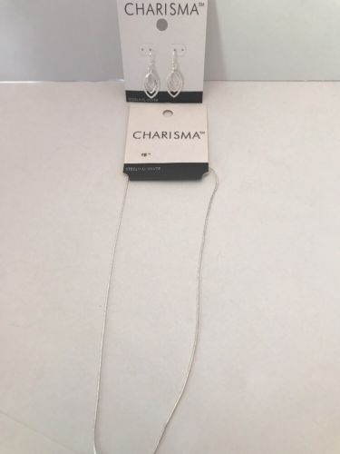 Charisma 2 Pc Set 925 sterling silver necklace 18