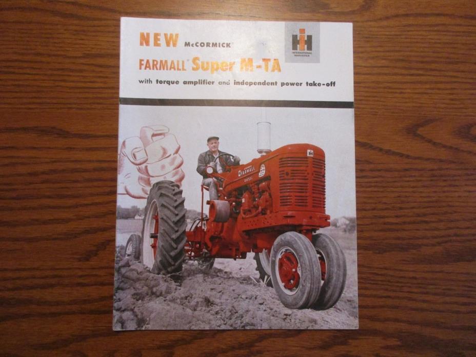 McCormick Farmall Original Super M-TA Tractor Color Sales Brochure
