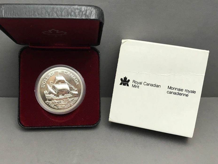 1979 Canada Dollar Silver Griffon Ship with box and outer sleeve