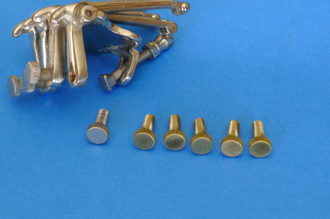 Oettinger Banjo Tailpiece Replacement Thumbcrews - Unplated