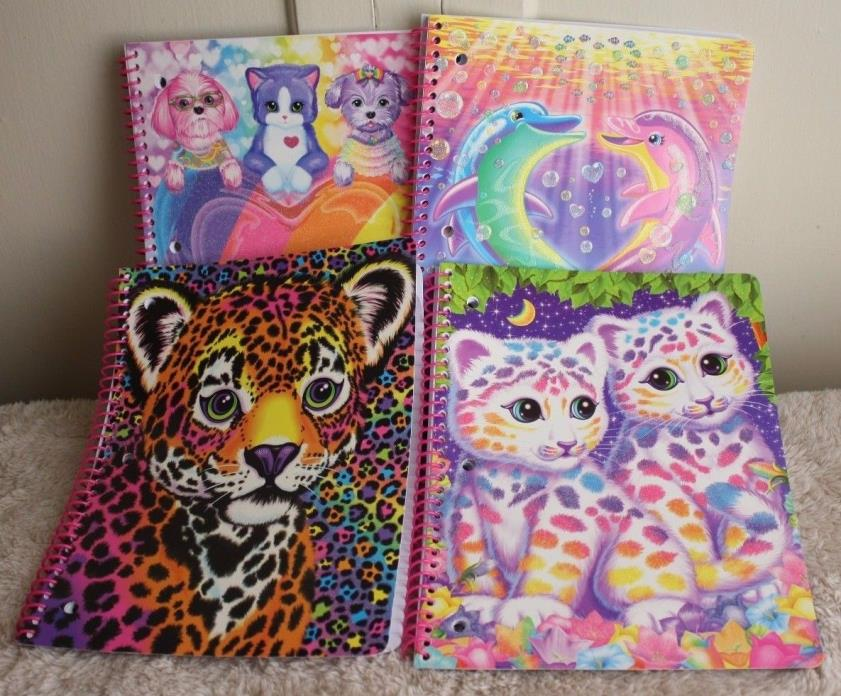 Lisa Frank 4 Spiral Notebooks Dancing Dolphins Sasha Hunter Back To School