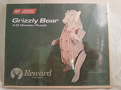 GRIZZLY BEAR 3-D WOODEN PUZZLE