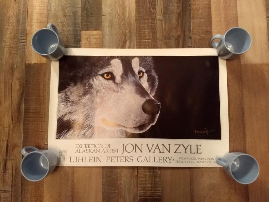 NEW 1992 UIHLEIN PETERS GALLERY POSTER BY JON VAN ZYLE