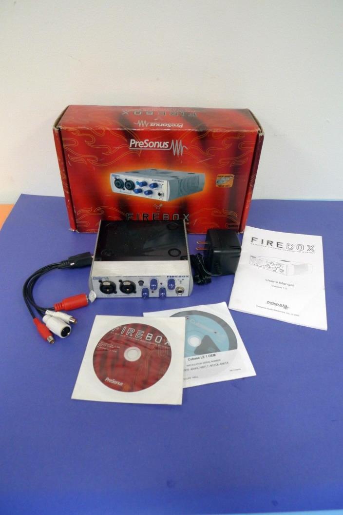 PreSonus FireBox Recording Interface in Original Box