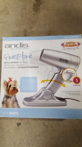 New Andis quiet air 1875 watts pet hair dryer dog cat