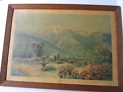 0ak picture frame,Robert Wood-Desert Grandeur,14 by 20,  # 538