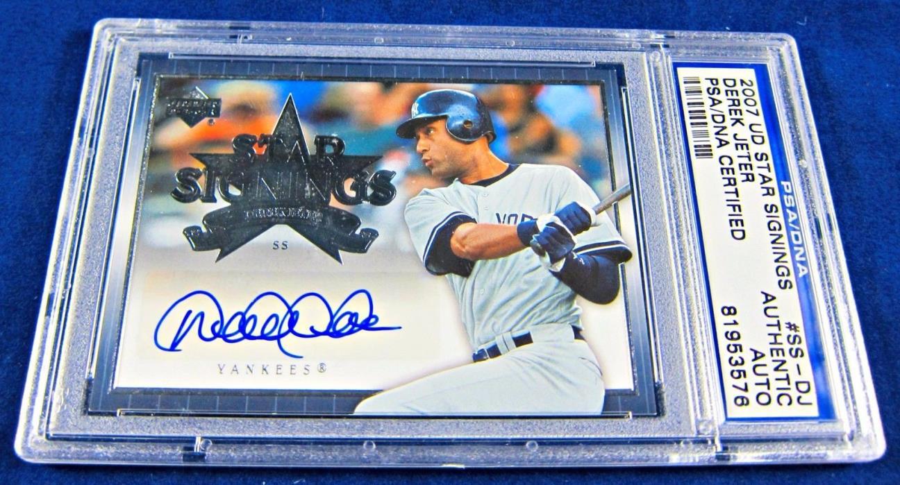 2007 Derek Jeter Autographed U.D. Star Signing PSA/DNA Card