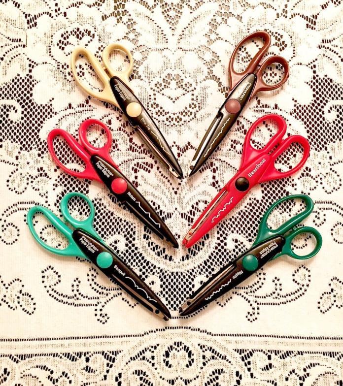 Fiskars Decorative Paper Edgers Scrapbooking Scissors Lot of 6