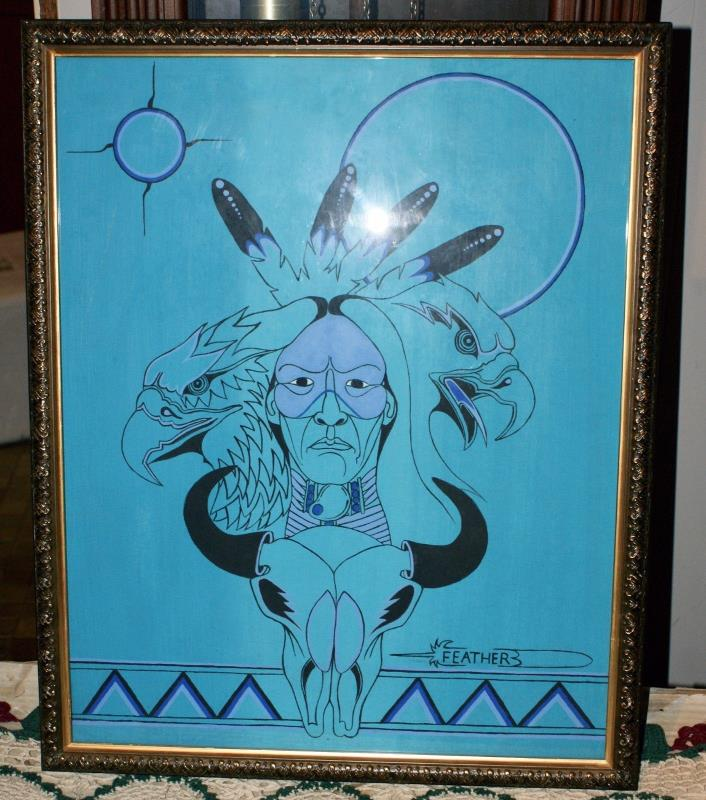 Sketch Of The Lakota Sprit Signed