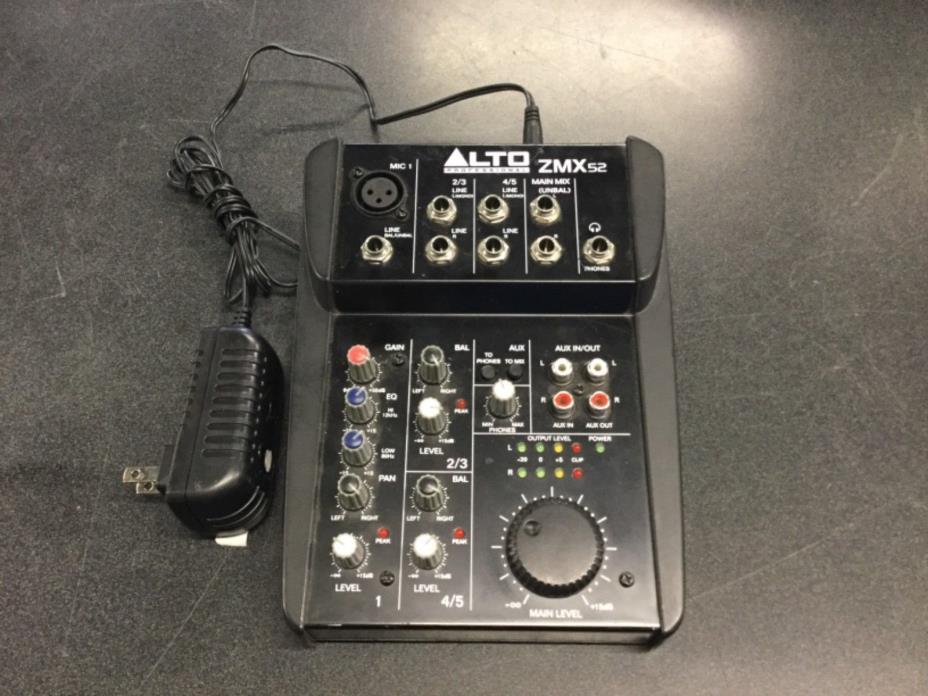 ALTO PROFESSIONAL ZMX 52 LIVE STUDIO DJ 5 CHANNEL MIXER