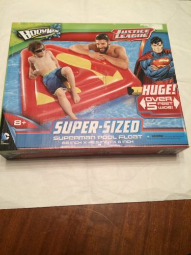 Justice League Boomwow Super Sized Superman Pool Float NEW