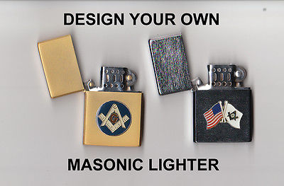 Masonic / Mason / Freemason Lighter - DESIGN YOUR OWN !