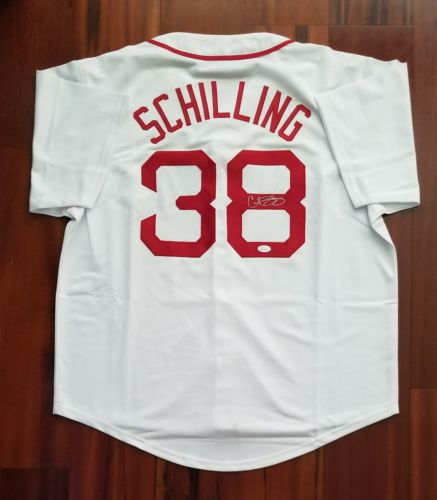 Curt Schilling Autographed Signed Jersey Boston Red Sox JSA