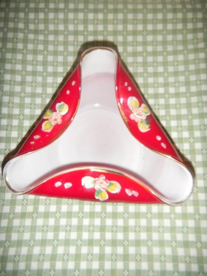 art glass bowl folded edges 6