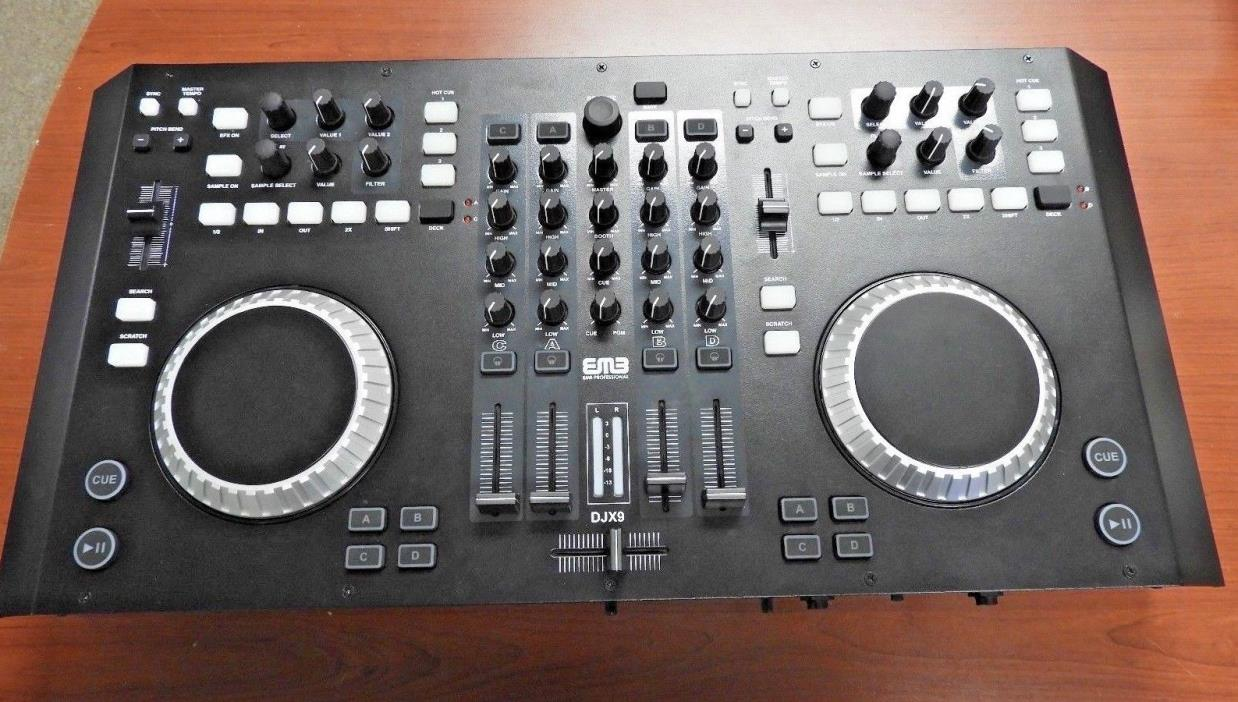 EMB Professional DJX9 4 Channels Controller DJ MIXER 2 Jog Wheels NEW