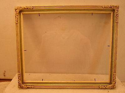 wood and gesso picture frame, 8 by 10 inches  NICE!!!! # 891