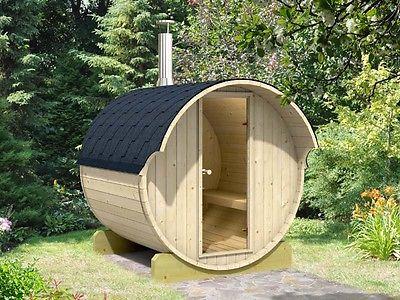 BZBCabins Barrel Sauna Kit W7,  Harvia M3 Wood Burning Heater, FREE Shipping!!!