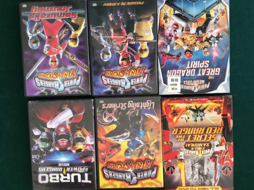 POWER RANGERS DVD Collection Lot (6) Movies Ninja Storm Mystic Force Samurai