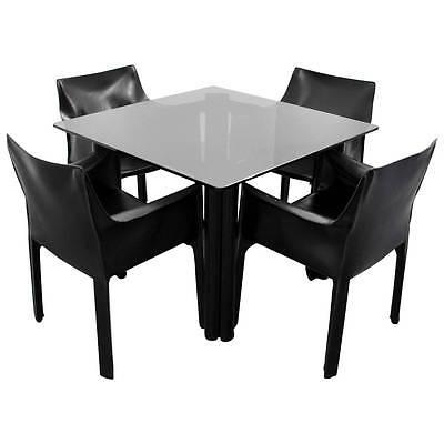 Mario Bellini Leather Chairs for Cassina, Dining Set (Borsani, Albini, Sarfatti)
