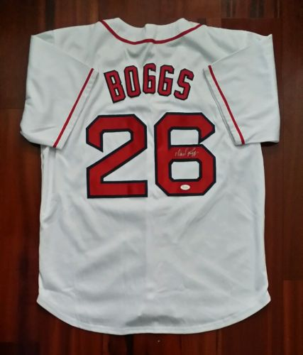 Wade Boggs Autographed Signed Jersey Boston Red Sox JSA
