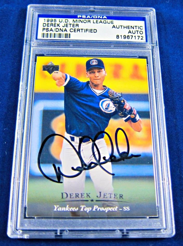 1995 Derek Jeter Autographed U.D. Minor League PSA/DNA Card