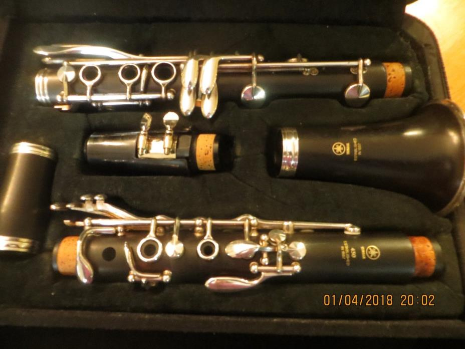 YAMAHA YCL-450 WOODEN CLARINET ~ ALL NEW PADS ~ VANDOREN MOUTHPIECE! BEAUTIFUL!!